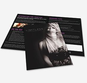 Premium folded leaflets