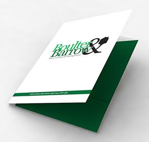 Matt laminated folders